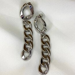 Серьги - Стильные серьги - цепи, 0