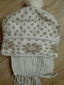 Головные уборы - Шапка и шарф для девочки, 0