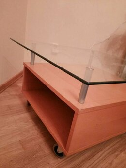 Столы и столики - журнальный столик со стеклом ИКЕА, 0