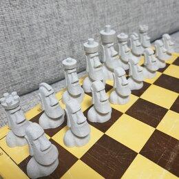 Настольные игры - Шахматы Моа́и (3Д-печать, пластик), 0