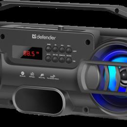 Компьютерная акустика - ПОРТАТИВНАЯ КОЛОНКА DEFENDER G104 12ВТ BT, FM,USB С ПОДСВЕТКОЙ, 0
