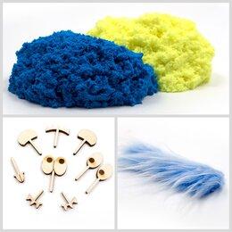 Лепка - PLUSH Пушистый пластилин Синий + желтый, 0