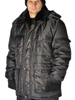 "Одежда - Куртка мужская ""Охрана "" зимняя черная, 0"