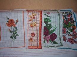 Полотенца - комплект из 4 кухонных льняных полотенец, 0