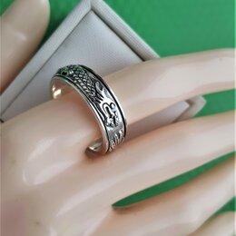 Кольца и перстни - Серебряное кольцо-крутяшка, оксидированное, 0