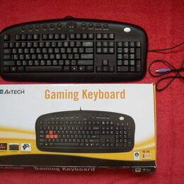 Клавиатуры - Игровая клавиатура A4Tech KB-28G (круглый штекер), 0
