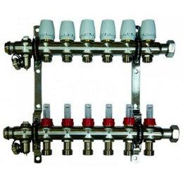 Комплектующие для радиаторов и теплых полов - Коллекторная группа с расходомерами на 4 выхода, 0