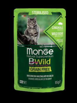Корма  - Паучи Monge Cat BWild Grain Free для стерилизованн, 0