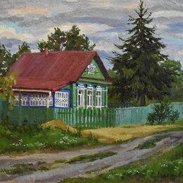 """Картины, постеры, гобелены, панно - Картина """"Вечер в деревне"""", 0"""