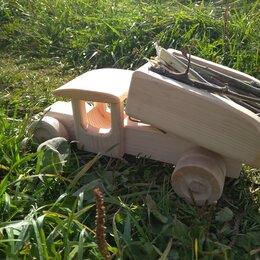 Машинки и техника - Грузовик самосвал деревянный, 0