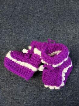 Носки - Детские пинетки для малышей, цвет: фиолетовый,…, 0