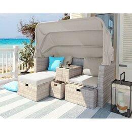 Комплекты садовой мебели - Комплект плетеной мебели AFM-330 Beige, 0