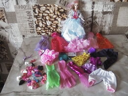 Куклы и пупсы - Кукла Барби +15 шт одежды+13 пар обуви, 0