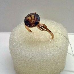 Кольца и перстни - Кольцо серебряное 925пр, позолоченное, камень…, 0