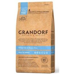 Корма  - Сухой корм Grandorf Dog White Fish Brown Rice 12…, 0