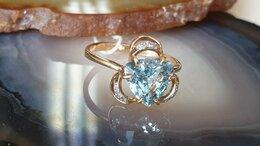 Кольца и перстни - Кольцо золотое с топазом, 0