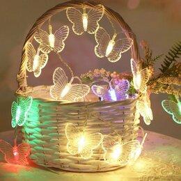 Новогодний декор и аксессуары - Гирлянда бабочки, 0