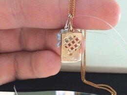 Кулоны и подвески - Золотая подвеска - Медальон Клевер, проба 585, 0