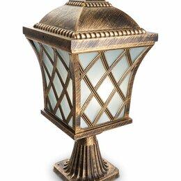 Уличное освещение - Светильник садово-парковый, 60W 230V E27 IP44 черное золото, PL4063, 0