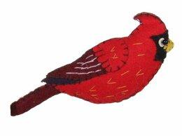Ёлочные украшения - Ёлочная игрушка КАРДИНАЛ, фетр, 11.5 см, SHISHI, 0