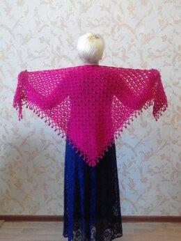 """Шарфы и платки - Шаль цвета  """"спелая вишня"""" 170 см х75 см, 0"""