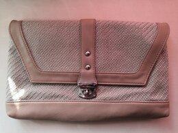Сумки - Плетёная бежевая сумка с вставками из кож. зама. , 0