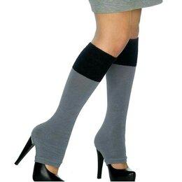 Колготки и носки - Хлопковые гетры с прорезью, 0
