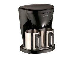 Кофеварки и кофемашины - Кофеварка с двумя чашками Gelberk GL-540 черный, 0