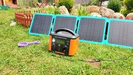 Зарядные устройства и адаптеры - Зарядка от солнца 45Вт складная с Type-C и USB…, 0