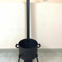 """Печи для казанов - Печь для казана 8 л """"Атлант"""" 3 мм с заслонкой, трубой, колосником, зольником, 0"""