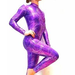 Комбинезоны - Комбинезон гимнастический фиолетовый , 0