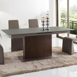 Столы и столики - Обеденный стол раздвижной 180-220 см темный орех…, 0