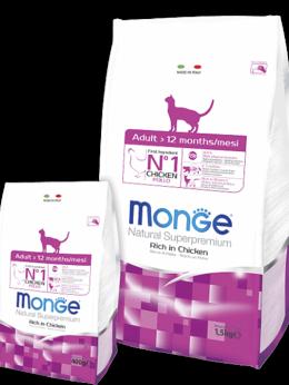 Корма  - Корм Monge Cat для взрослых кошек, 0