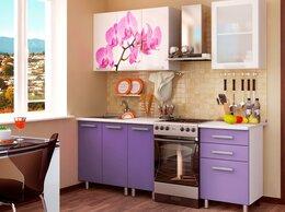 Мебель для кухни - Кухонный гарнитур с фотопечатью «Орхидея» 1,6 м, 0