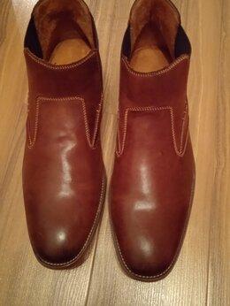 Сапоги - Мужские кожаные сапоги, 0