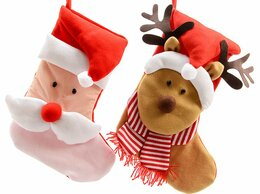 Новогодний декор и аксессуары - Носок для подарков НОВОГОДНИЕ ЧУДАКИ, 34х48 см,…, 0
