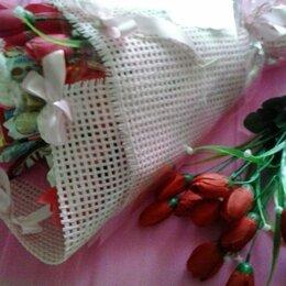 Цветы, букеты, композиции - Сладкие БУКЕТИКИ с искусственными ТЮЛЬПАНАМИ, 0