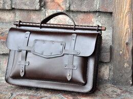 Портфели - Кожаный портфель (ручная сборка, юфть шорно-…, 0