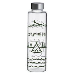 Бутылки - Бутылка стеклянная прозрачная 600 мл Stay Wild , 0