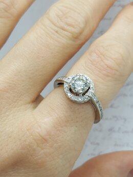 Кольца и перстни - Золотое кольцо с бриллиантом 1,10 ct, K/SI1, 0