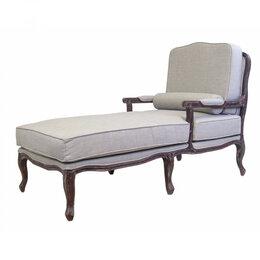 Кресла - Кресло с подставной для ног светло-серое Yalena, 0