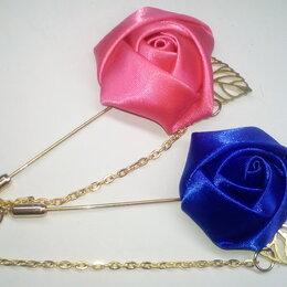 Броши - Броши розы из шелка, 0