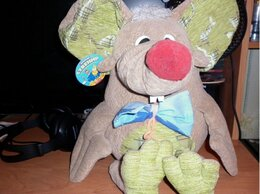 Мягкие игрушки - Мышь мягкая для интерьера, 0