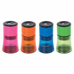 Мусаты, точилки, точильные камни - Точилка 1 отверстие BRAUBERG «Office Style», с контейнером, пластиковая, корпус , 0