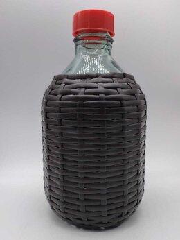 Бутылки - Бутыль в оплетке из ротанга, с крышкой, 5 литров, 0