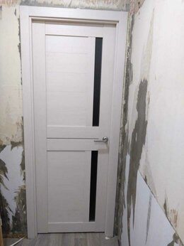 "Межкомнатные двери - Дверь межкомнатная экошпон ""2С1М"" эшвайт, 0"