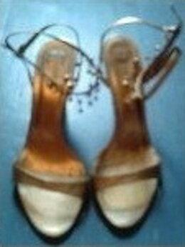 Босоножки - Золотые босоножки на каблуке 7 см., с…, 0