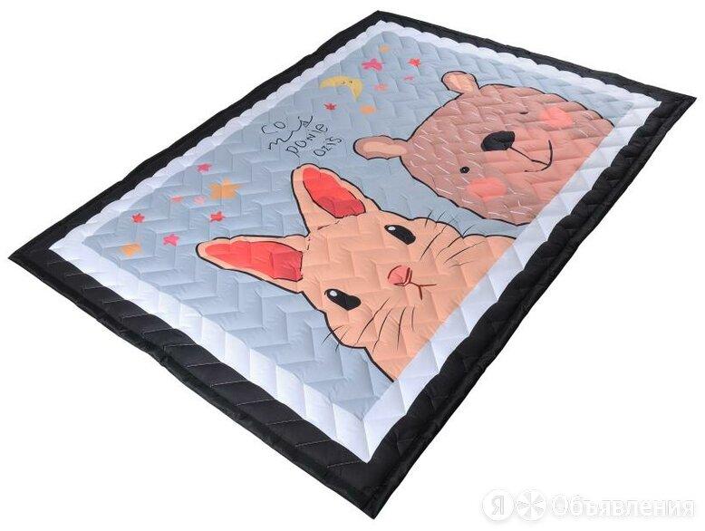 "Коврик-одеяло Farfello ""Зверушки"" 150*200 см, стеганый, серый арт.Z1 по цене 3714₽ - Покрывала, подушки, одеяла, фото 0"