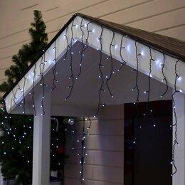 """Украшения для организации праздников - LED гирлянда """"Бахрома"""" уличная, 3 х 0.6 м, Каучук, Белый, 0"""