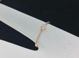 Кольца и перстни - Золотое кольцо с Фианитом 585°, размер 17,0, 0